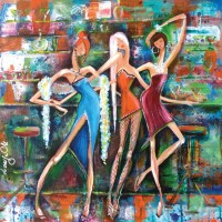 Larisa_Martino_Girls_Night_Out_24X24_Acrylic_600px